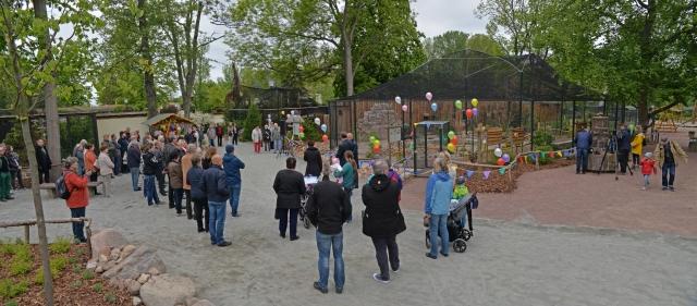 Eröffnung Vogelvoliere-sk